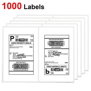 1000 Shipping Labels 8 5 x5 5 Rounded Corner Self Adhesive 2 Per Sheet Usps Ups
