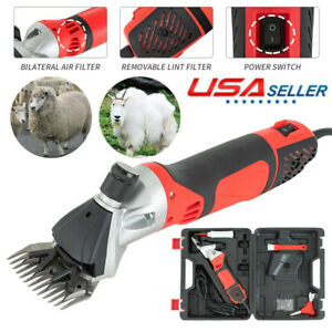 6 Speed Electric Supplies Sheep Goat Shears Animal Shearing Grooming Clipper Us