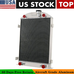 4 Rows Aluminum Radiator For 1930 1931 Ford Model A W flathead Engine 28 Height