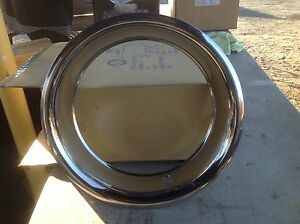 4 Chevy 15 15x8 Rally Wheel 3 Deep Trim Rings Stainless 3002