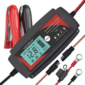 12v 6a Lifepo4 Lead Acid Smart Battery Charger Tender Maintainer 4 In 1 For