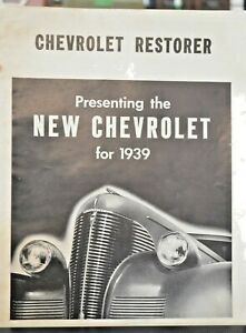 1939 Chevrolet Restorer Guide Glossy Photo Automobile Digest August 1939