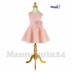 Kids Dress Body Form Mannequin 5 6 Yrs With Wooden Tripod Stand