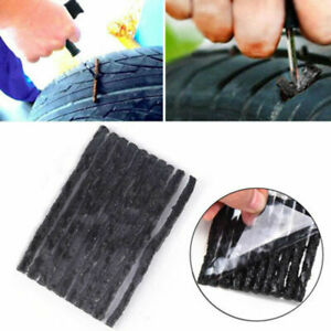 50pcs Car Bike Tyre Tubeless Seal Strip Plug Tire Puncture Recovery Repair Kit
