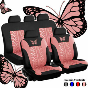 9pcs Car Seat Covers Protectors Universal Washable Dog Pet Full Set In Pink Us