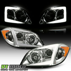 2005 2010 Chevy Cobalt Chrome Led Tube Projector Headlights Headlamps Left right