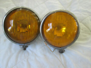 Fog King Fog Light Amber Bulb Reflector Old Style With Patina Rat Rod