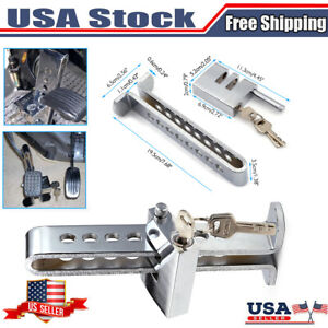 Brake Pedal Lock Security Car Auto Stainless Steel Clutch Lock Anti Theft Us