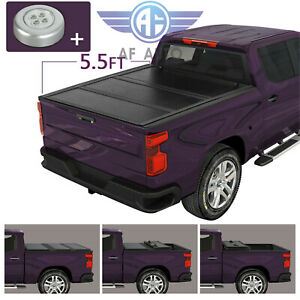 Fit For 2015 2018 Ford F 150 5 5ft Bed Aluminum Lock Hard Tri fold Tonneau Cover