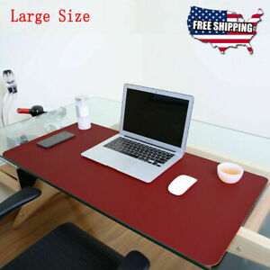 Non Slip Dual Side Pu Leather Desk Pad Keyboard Mouse Protector Mat 47 x23 5