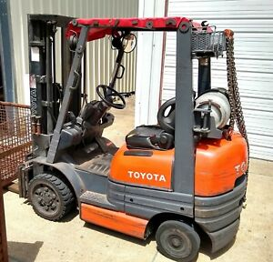 4000 Lbs Capacity Toyota Forklift Lp Gas 83 189 Mast With Sideshift 60 Forks