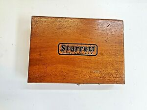 Starrett No 599 Planer And Shaper Gage Inspection Tool In Original Wood Box