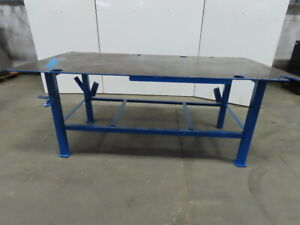 Steel Welding Work Bench Assembly Layout Table 96 x 48 x 39 High 1 2 Thick Top
