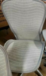 Herman Miller Aeron Office Chair Silver Size C No Arms