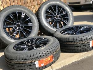 18 Cadillac Xt5 Srx Gloss Black Wheels Rims Tires Factory Oem Set 4 4798