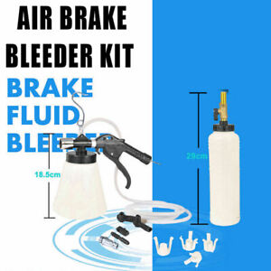1 75l Car Brake Bleeding Clutch Fluid Bleeder Kit Vacuum Tool Pump Air Bottle Us