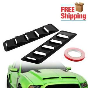 2pcs Universal Car Hood Vent Louver Scoop Cover Air Flow Intake Car Styling