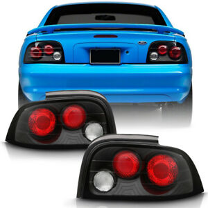 Black 1996 1998 Ford Mustang Altezza Rear Tail Lights Brake Lamps Left right Set