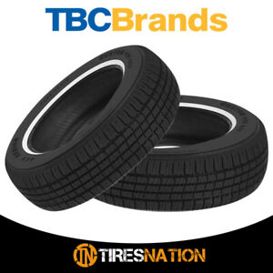 2 New Tbc Brand Custom 428 A S 215 75r15 100s 440 Aa Tire