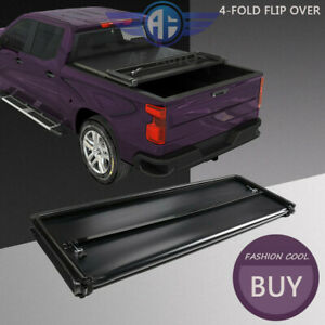Soft 4 Fold Tonneau Cover For 2004 2014 Ford F150 5 5 Ft 66 Bed Crew Cab