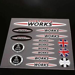 Car Emblem Decals Fit For John Cooper Works Racing Auto Body Badge Stickers
