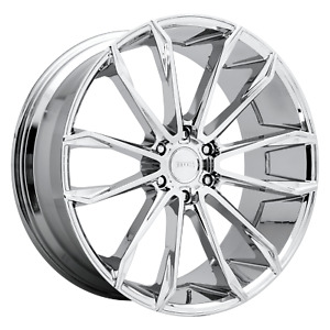 1 New 24x10 Dub Clout Chrome 6x139 7 S251240084 30