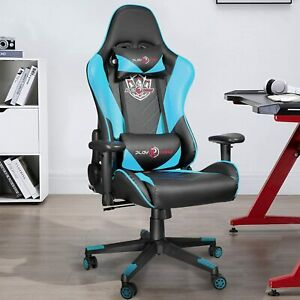 Swivel Gaming Chair Racing Ergonomic Recliner Office Computer Desk Seat Chairs