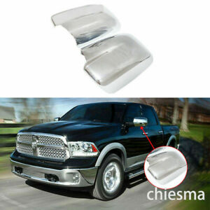Full Mirror Covers For 2009 2018 Dodge Ram 1500 2500 Without Turn Signal Chrome