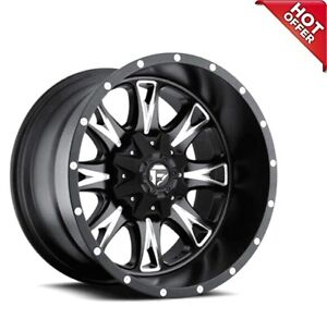 18x10 Fuel Wheels D513 Throttle Matte Black Milled Off Road Rims S45