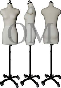Female Sewing Dress Form Mannequin Pinnable W Magnetic Shoulders Base Size 0
