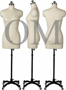Female Sewing Dress Form Mannequin Pinnable W Magnetic Shoulders Base Size 10