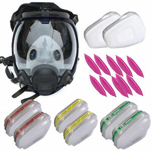 Respirator Full Face 15 In 1 7 In 1 Gas Mask Paint Chemicals Face Cover Useful