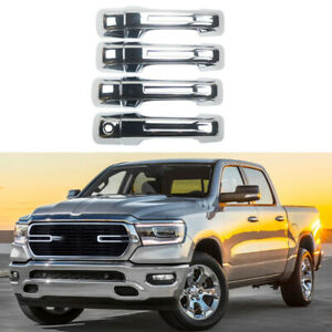 Door Handle Covers Fit For 2019 2021 Dodge Ram 1500 No Smart Keyhole Chrome Abs