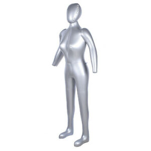 Woman Female Inflatable Model Dummy Torso Body Mannequin W Arm Display Fashion