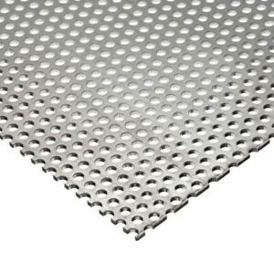 Galvanized Steel Perforated Sheet 0 028 X 12 X 12 1 8 Holes