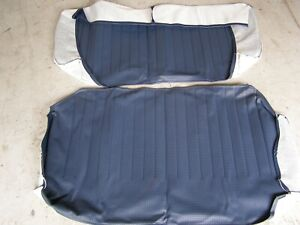 Vw Type 3 Squareback 68 74 Rear Seat Upholstery Basketweave Covers Blue