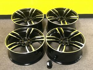20 Inch Fit Bmw 3 4 5 6 7 M6 Sport Style M6 Style Rims Wheels Machined Blk