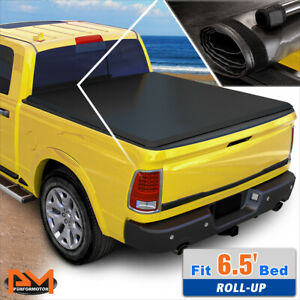 Vinyl Soft Top Roll Up Tonneau Cover For 99 18 Ford Super Duty 6 5ft Short Bed