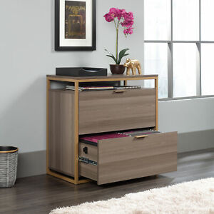 Lateral File Cabinet Drawer Filing Document Storage Office Furniture Wood Metal