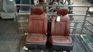 Pair Of Front Heated Leather Seats From 2013 Ford Expedition King Ranch 7182491