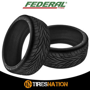 2 New Federal Ss595 195 60r14 Tires