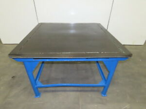 50 X 50 Steel Top Fabrication Assembly Work Welding Table 1 2 Steel 32 Tall