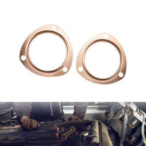 Fit For Sbc Bbc 302 350 454 3 Copper Header Exhaust Collector Gaskets Reusable