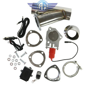 3 Inch 76mm Electric Exhaust Muffler Valve Cutout System Dump Wireless Remote