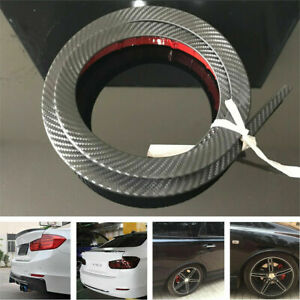 Carbon Fiber Look Car Rear Wing Lip Spoiler Tail Trunk Roof Trim Luxury Kit 1 5m