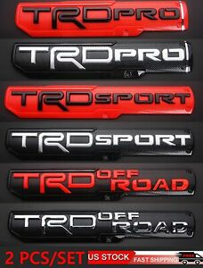 High Quality 2pcs Tacoma Trd Pro Off Road Sport Door Emblem Sticker Badge Oem