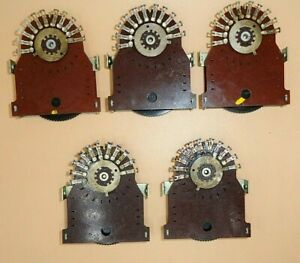 Rotary Selector Switch 10 Position Nos lot Of 5