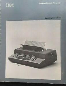 Ibm Correcting Selectric Composer Typewriter Operating Instructions Manual