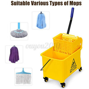 5 Gallon Mini Mop Bucket With Wringer Combo Commercial Rolling Cleaning Cart Us