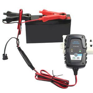 12v 6v Auto Car Trickle Battery Charger Maintainer For Motorcycle Boat Us Stock